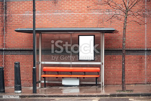 istock Blank billboard at bus station 939288038