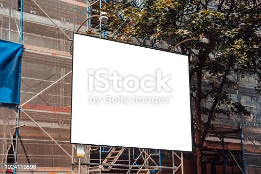 istock Blank billboard at construction site 1024119896