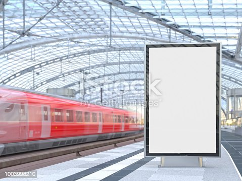 Blank Billboard at Railway Station