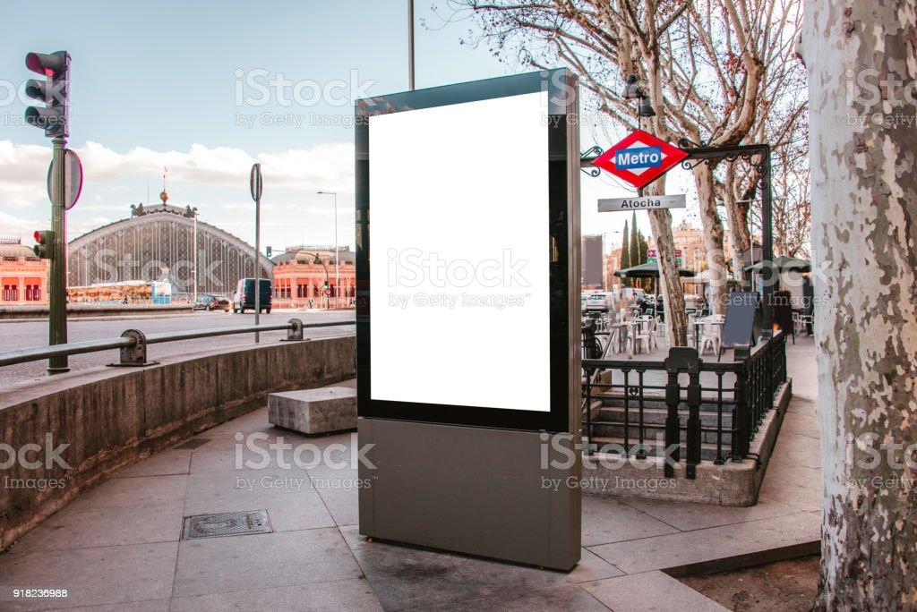 Blank billboard at street - foto stock