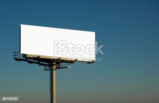 istock blank billboard at sundown 90153232