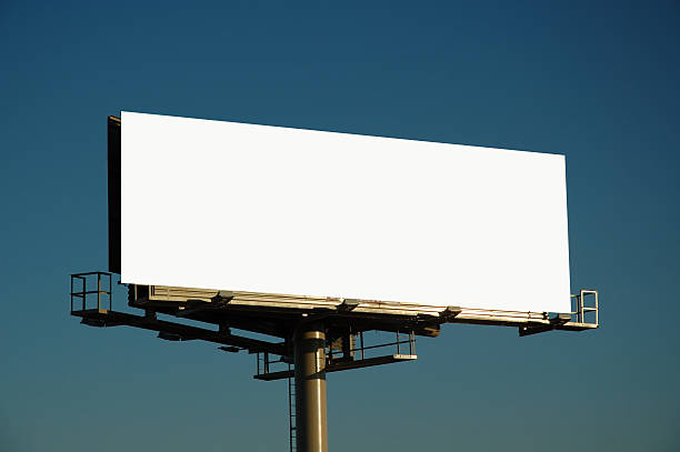 Blank billboard at sunset blank bill board ready for your text billboard stock pictures, royalty-free photos & images