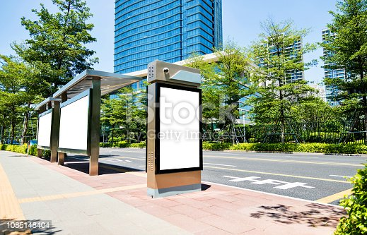 istock Blank billboard at the bus station 1085148404
