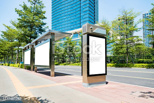 istock Blank billboard at the bus station 1177481262