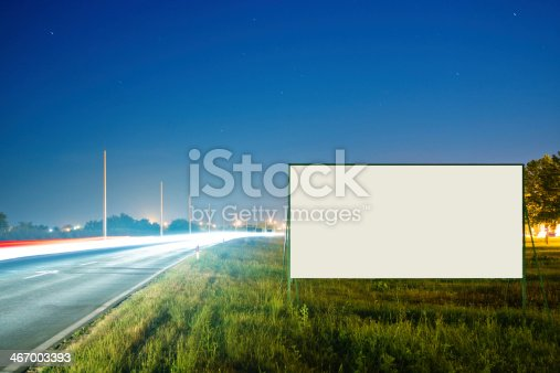 istock Blank billboard by the road 467003393