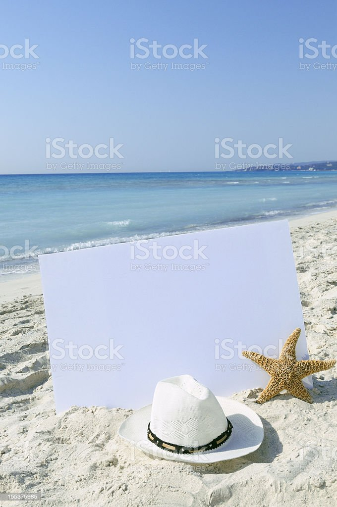 Blank Billboard by the Sea royalty-free stock photo