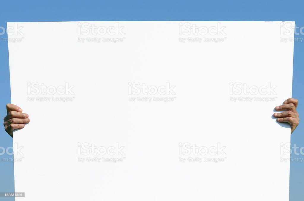 Blank Billboard. Copy Space royalty-free stock photo