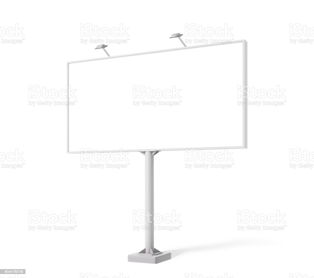 Blank billboard day view mock-up stock photo