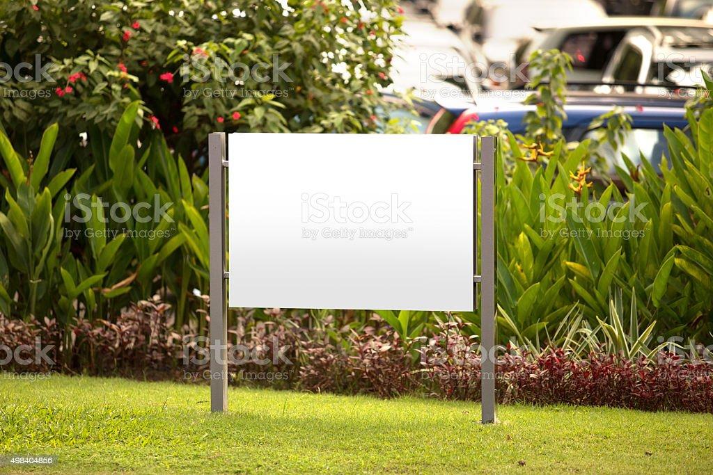 Blank billboard, for advertisement stock photo