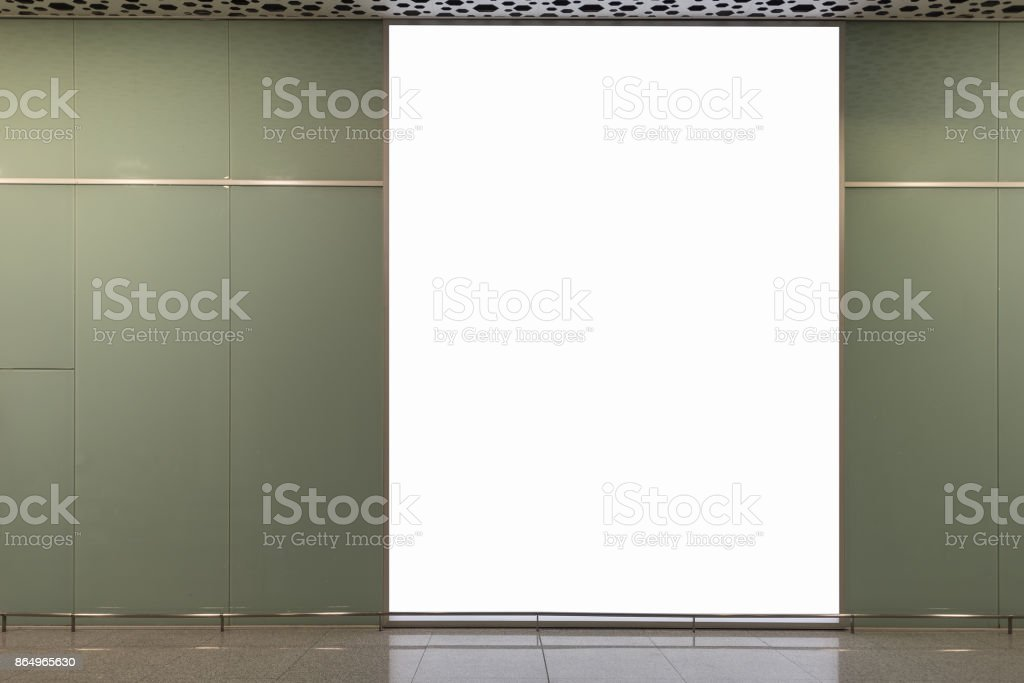 blank billboard for advertising poster stock photo