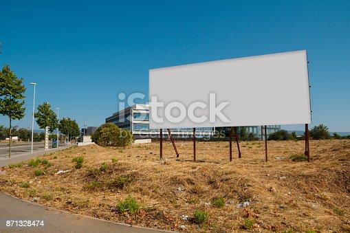 istock Blank billboard in a plot 871328474