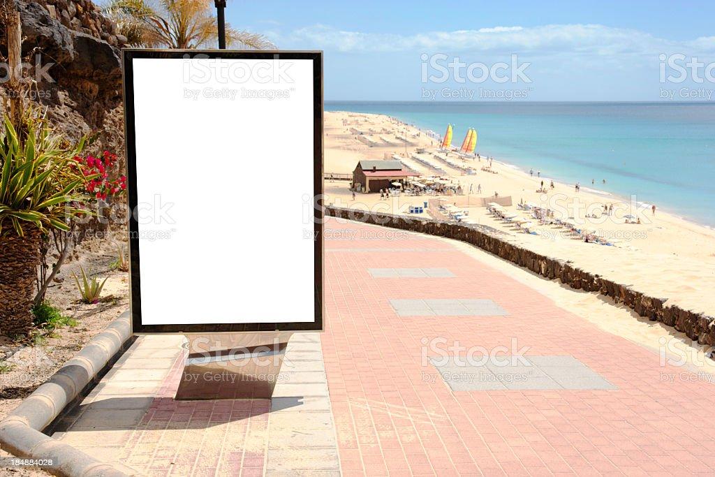 Blank billboard in Fuerteventura royalty-free stock photo