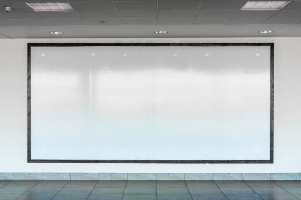 Blank billboard in interior airport hall Big blank billboard in interior airport hall subway stock pictures, royalty-free photos & images
