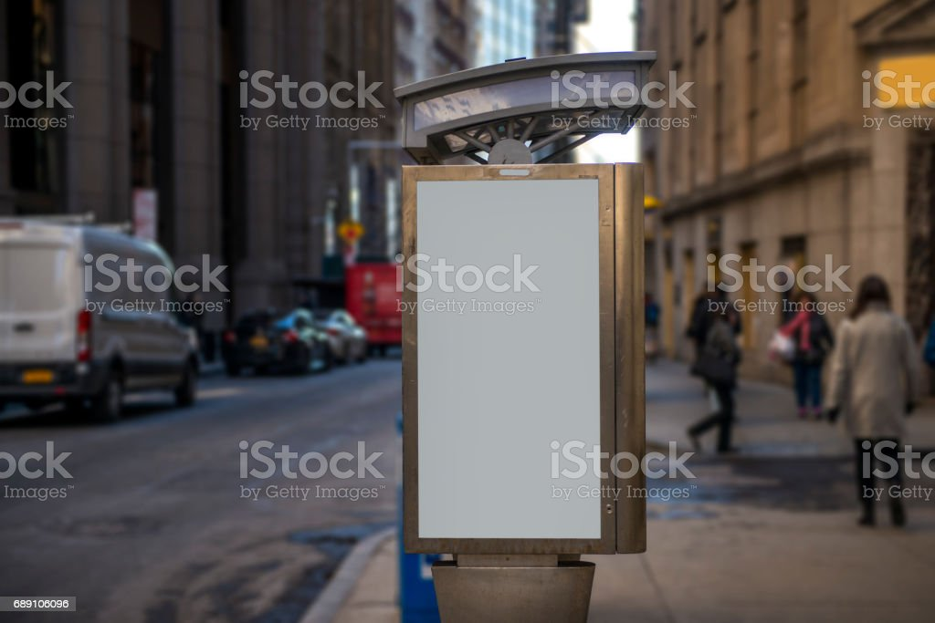 Blank billboard in Manhattan, New York City - foto stock