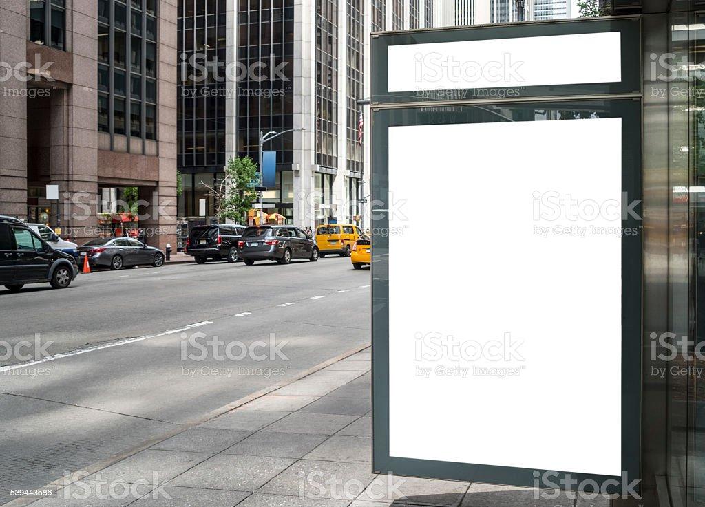 Panneau d'affichage vide dans New York - Photo