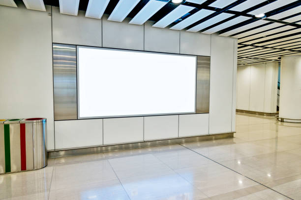 Blank billboard in subway station Blank billboard in subway station. commercial sign stock pictures, royalty-free photos & images