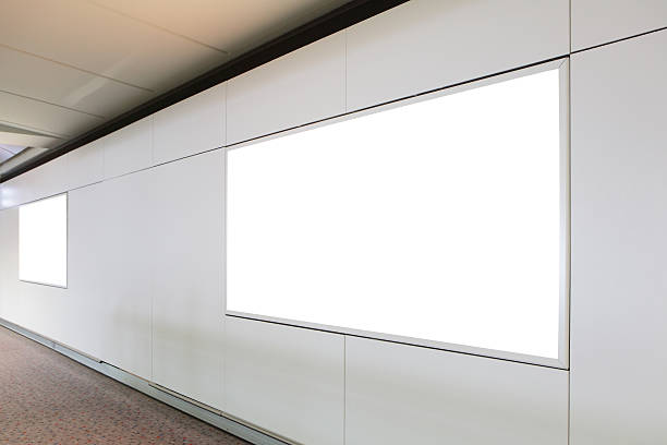 blank billboard in the city building - billboard train station bildbanksfoton och bilder