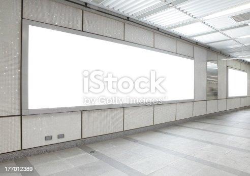 istock Blank billboard in the city building 177012389
