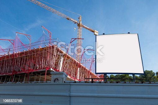 istock Blank billboard in the construction site 1065320756