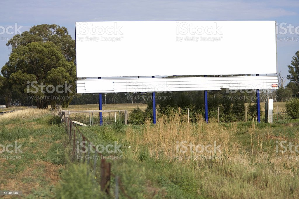 blank billboard in the country royalty-free stock photo