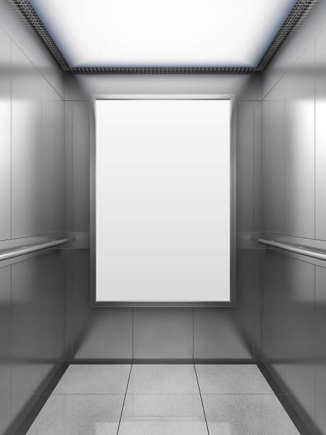 Blank billboard inside of elevator – Foto