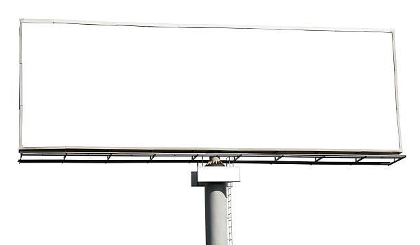 Blank billboard isolated stock photo