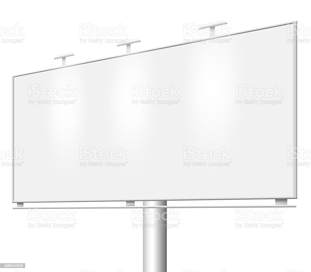 Blank billboard isolated royalty-free stock photo