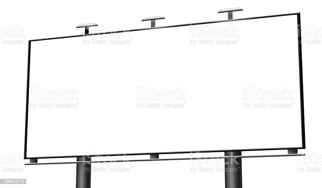 Blank billboard isolated royalty-free stock photo