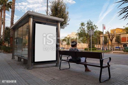 istock Blank billboard mock up 671934918