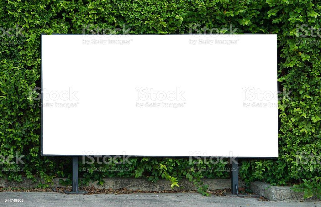 Blank billboard mockup template for advertisement present stock photo