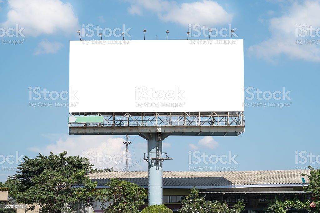 blank billboard mockup template in bangkok thailand stock photo more pictures of advertisement. Black Bedroom Furniture Sets. Home Design Ideas