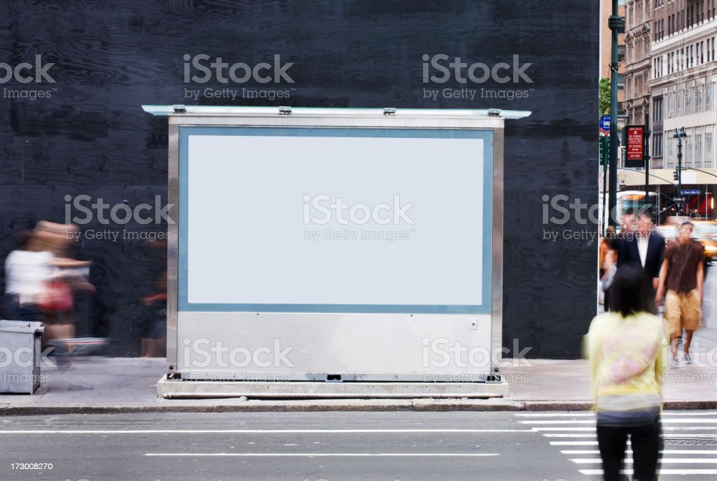 Blank Billboard - NYC stock photo
