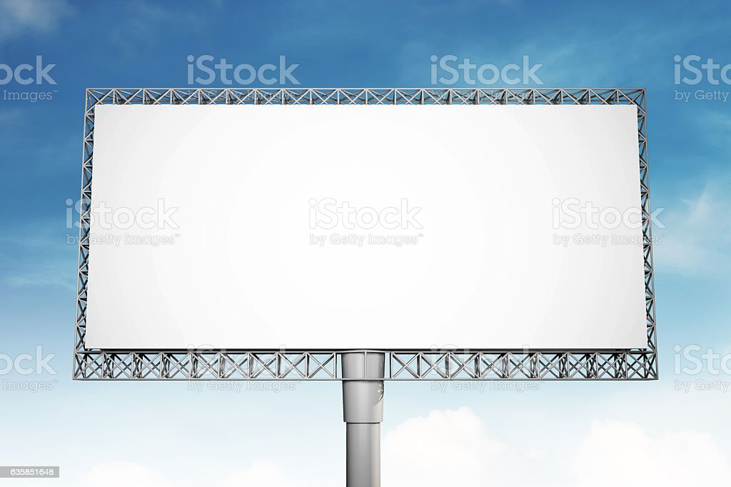 Blank Billboard On Blue Sky Background For Advertisement Royalty Free Stock Photo