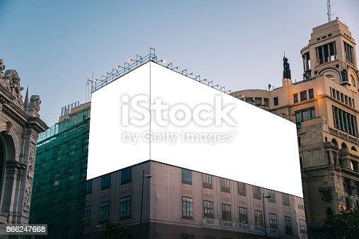 istock Blank billboard on building 866247668