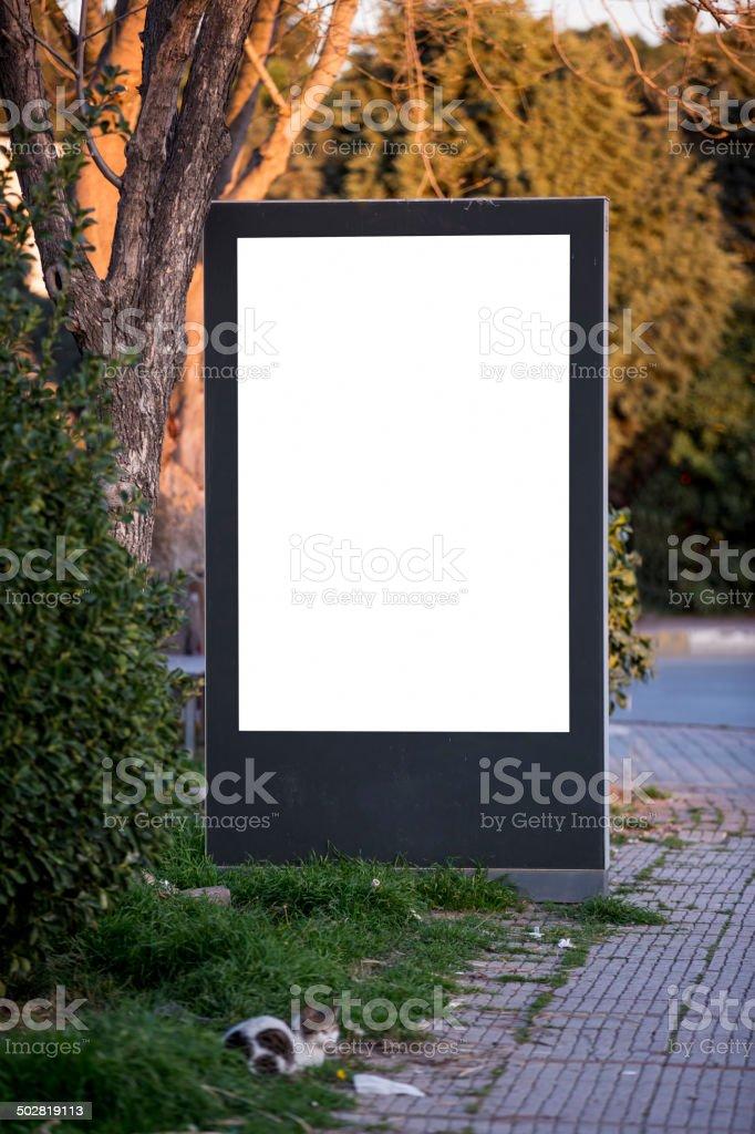 Blank Billboard on City Street royalty-free stock photo