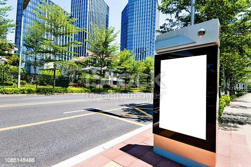 693455040 istock photo Blank billboard on city street side 1085148466