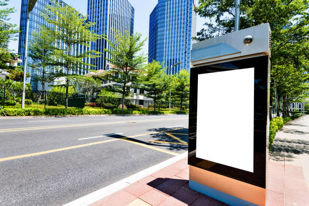 Blank billboard on city street side Blank billboard on city street side. electronic billboard stock pictures, royalty-free photos & images