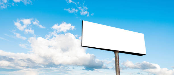 Blank billboard on sky background Blank billboard on sky background. billboard stock pictures, royalty-free photos & images