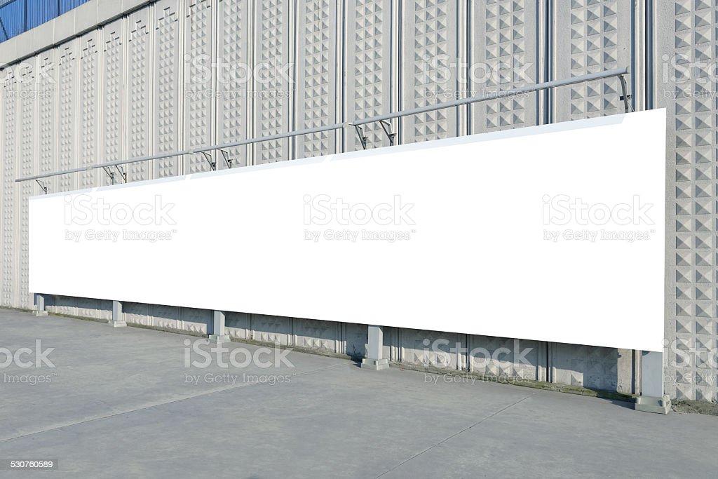Blank billboard on street stock photo