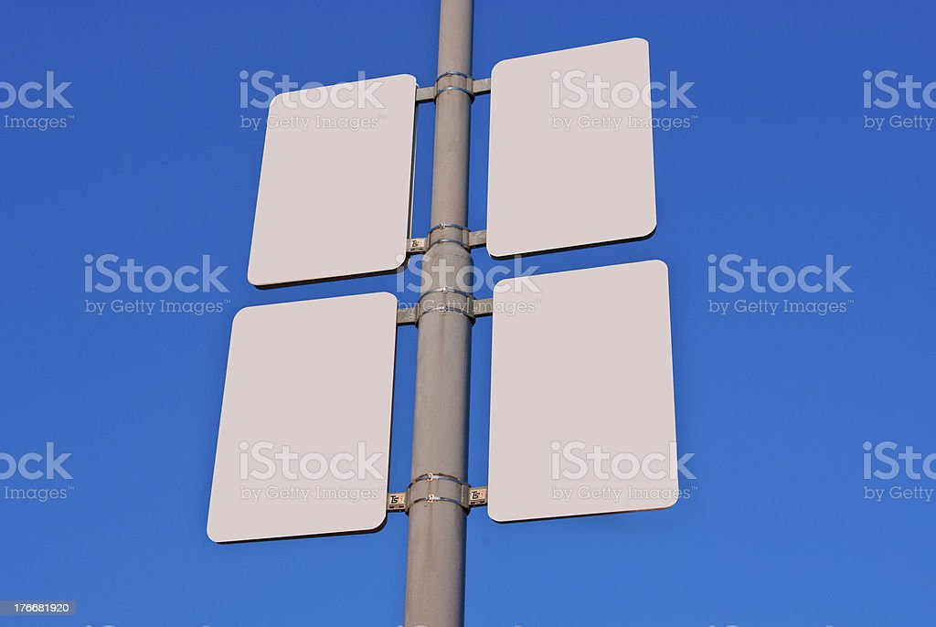 Blank Billboard on the bue sky background royalty-free stock photo