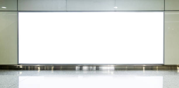 Blank billboard on the corridor of airport Blank billboard on the corridor of airport. electronic billboard stock pictures, royalty-free photos & images