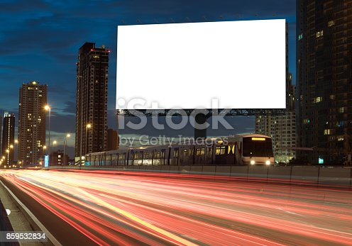 istock Blank billboard on the highway 859532834