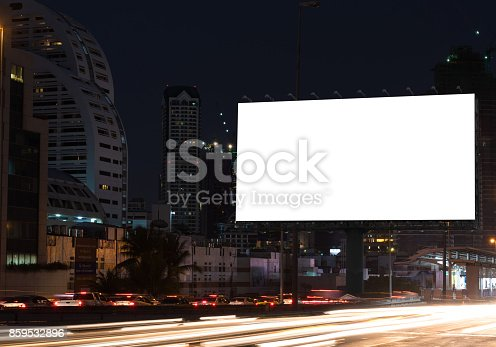 istock Blank billboard on the highway 859532896