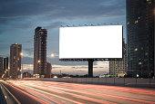 istock Blank billboard on the highway 859537168