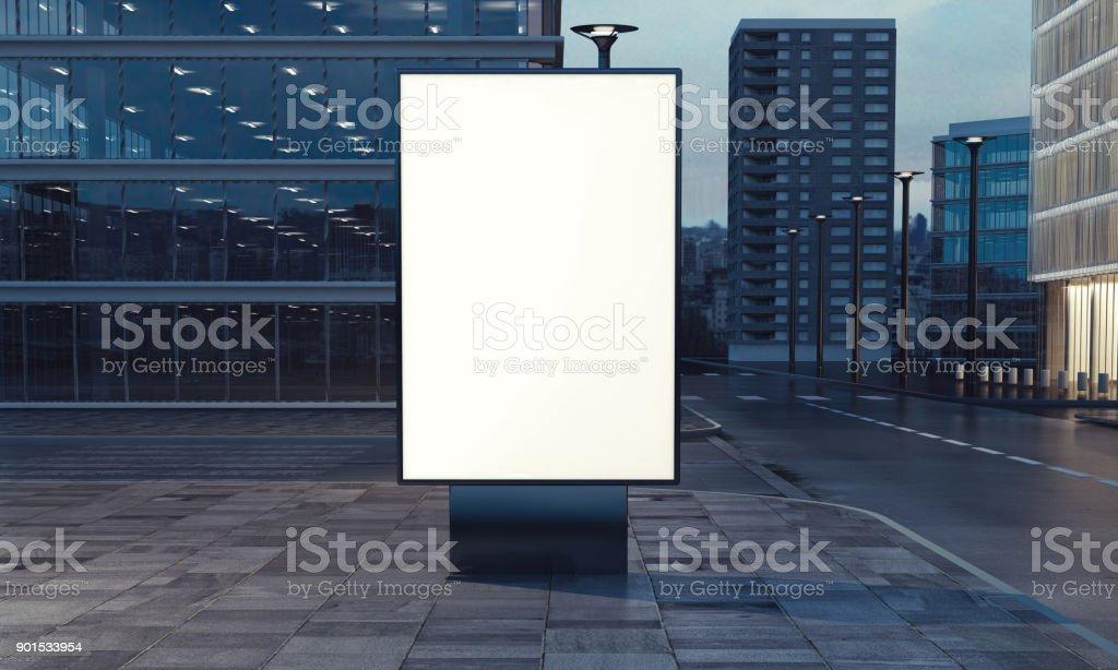 Leere Plakat auf der Straße – Foto