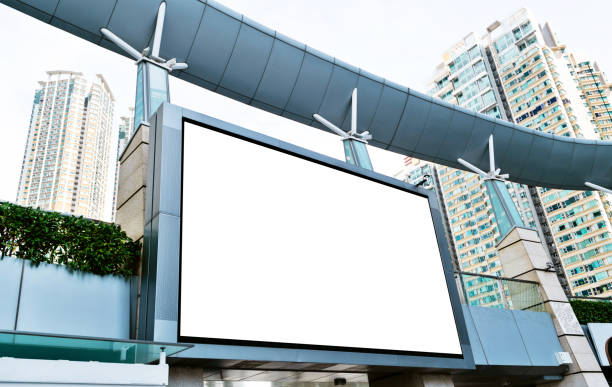 Blank billboard on the wall of shopping mall Blank billboard on the wall of shopping mall. electronic billboard stock pictures, royalty-free photos & images