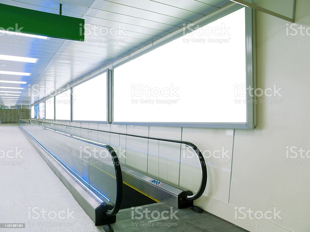 Blank billboard on wall royalty-free stock photo