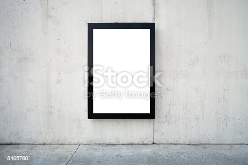 istock Blank billboard on wall. 184657601