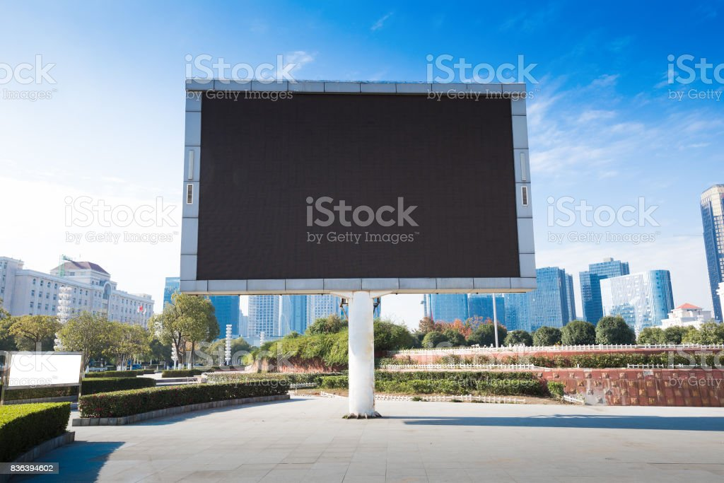 blank billboard or road sign on the highway stock photo