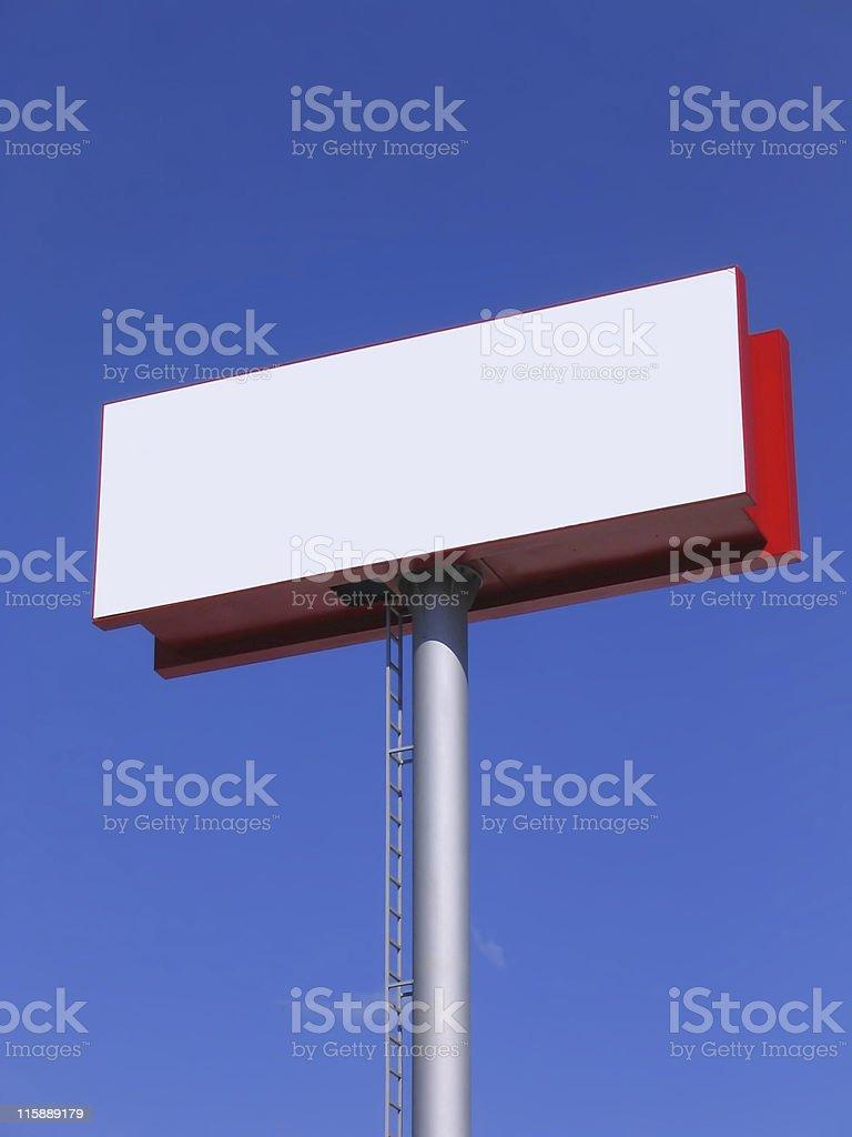 Blank billboard over blue sky royalty-free stock photo